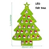 ALILEO Famiglia Navidad'S Merry Christmas Ornaments Albero di Natale Fai-da-Te Babbo Natale Regalo Decorazione di Natale, Luce A LED in Feltro