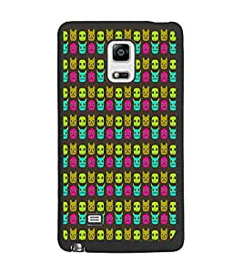 PrintDhaba Pattern D-5906 Back Case Cover for SAMSUNG GALAXY NOTE EDGE (Multi-Coloured)