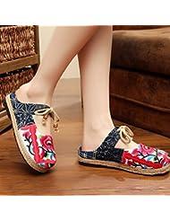 DM&Y 2017 Yunnan zapatos bordados zapatos de vestir bohemio perfecto partido de la gira . red . 40