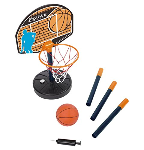 Simba Mini Basketballset Höhe 40 Bis 160 cm - Mit Mini-Basketball Board Korb Netz Ständer Luftpumpe