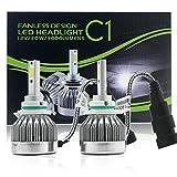 #8: Alcoa Prime 2X 9005 HB3 C1 60W 6000LM Car COB LED Headlight Conversion Kit Hi/Lo Bulbs 6000K