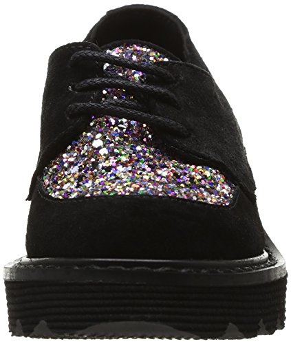 Yep Alette Mädchen Schnürhalbschuhe Mehrfarbig - Multicolore (Croute Noir/Glitter Colore)
