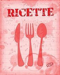 Ricette: Copertina colore rosso - Quaderno per scrivere 100 ricette