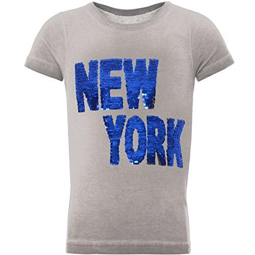 emoji shirt mit wendepailletten BEZLIT Jungen T-Shirt Tollem Wende-Pailletten Schriftzug 22028 Grau Größe 164