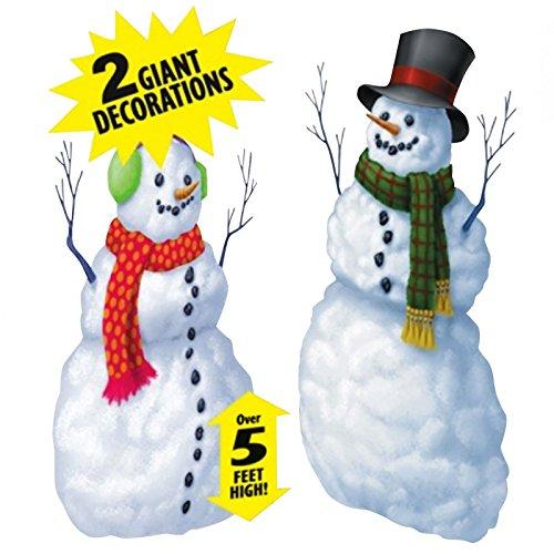 neemänner Big Weihnachten Fenster, zum Aufhängen Schneemann Scene Setter Vinyl Dekoration Set ()