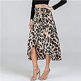 SWOVQ Bleistiftrock Taille Print Rock Damen Kleidung Mitte