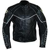 Protectwear Veste de moto en cuir, noir, WMB-303, Taille: M