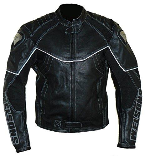 Protectwear Moto - giacca di pelle nera WMB-303, taglia 50 / M