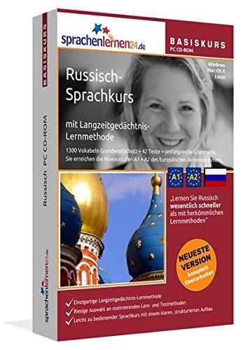 Russisch-Basiskurs mit Langzeitgedächtnis-Lernmethode von Sprachenlernen24: Lernstufen A1 + A2. Russisch lernen für Anfänger. Sprachkurs PC CD-ROM für Windows 10,8,7,Vista,XP / Linux / Mac OS X