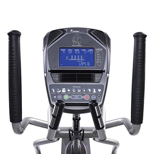 Spirit Fitness xe795Crosstrainer Cross Trainer, Fitness, Bewegung, Fitnessstudio, MP3-Audio Jack und Lautsprecher, Blau beleuchtetes LCD-Display, 12Trainingsprogramme, 40Widerstandslevel, eingebauter Ventilator, robusten Rahmen - 9