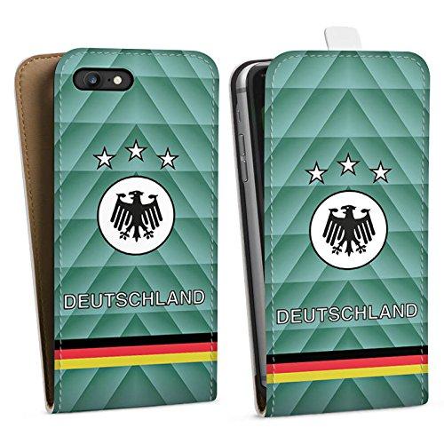 Apple iPhone X Silikon Hülle Case Schutzhülle Fussball Deutschland Vintage Downflip Tasche weiß