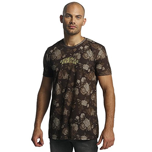 Criminal Damage Uomo Maglieria/T-Shirt Vine Marrone