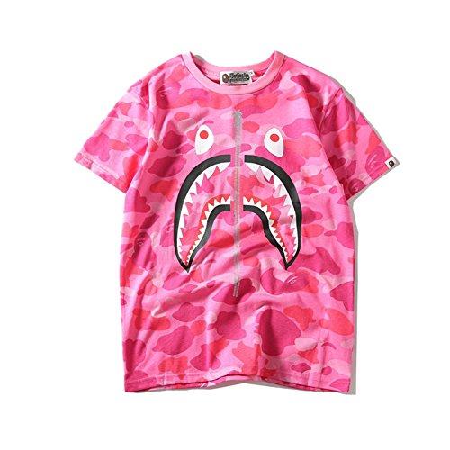 BOMOVO Herren BAPE T-Shirt Shirt Shop Tri Tee Rosa