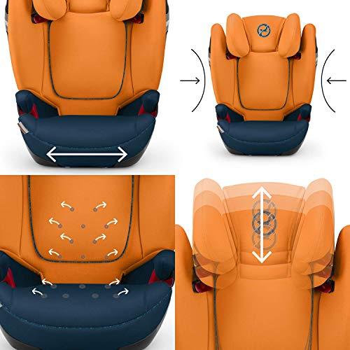 Cybex Gold Seggiolino Auto Per Bambini Solution S Fix Per Auto Con E Senza Isofix Gruppo 23 15 36 Kg Da 3 Fino A 12 Anni Ca Premium Black