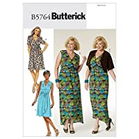 Butterick Sewing Pattern 5764 - Ladies Plus Size Dress Sizes: 26W-28W-30W-32W