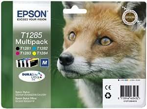 4 Epson Stylus SX445W Original Printer Ink Cartridges - Cyan / Magenta / Yell...