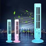 Sansee Neuer Mini Beweglicher USB Ventilator,Kühlender Blattloser Schreibtisch Ventilator (4621, Rosa)