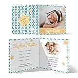 20 x Geburtskarten Babykarten Geburt Baby individuell Mädchen Junge - Froher Stern