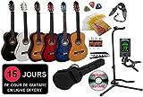 Pack Guitare Classique 4/4 (Adulte) + 8 Accessoires + Cour Vidéo et DVD ... (Sunburst)