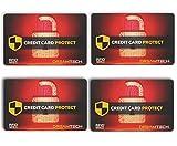4 x Tarjetas de Bloqueo DreamTECH RFID & NFC: Seguridad antirrobo para Tarjetas de crédito/débito/DNI. Proteja su Identidad e información financiera con un Protector excepcional de diseño Ultrafino.