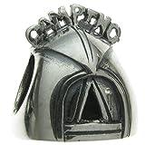 Queenberry Camping-Zelt Charm-Anhänger Sterling-Silber, für Picknick, Reise, Urlaub, für Armbänder von Pandora, Chamilia, Troll, Baigi Charm-Armbänder