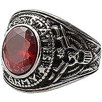 Berretto da donna punk Titanium Steel Band strass finger Ring Jewelry charm Amesii