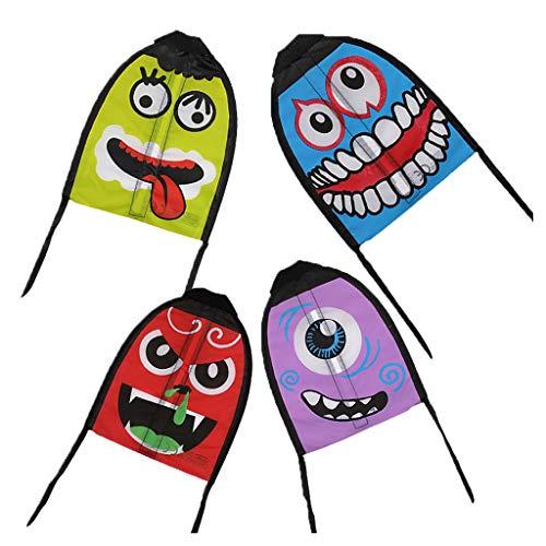 JAGENIE Finger Katapult Kite Schießen Mini Lustige Emoji Flyer Cartoon Schwanz Outdoor Geschenke, 1 STÜCK, Gelegentliche Anlieferung
