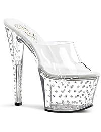 Pleaser Stardust-701 - sexy plateau talon hauts chaussures femmes sandalettes avec strass 35-42