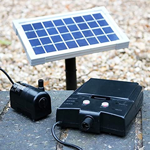 Solar Water Fountain Pond Pump with Battery Backup - 2.5W Pump Kit for Bird Bath, Water Feature, Waterfall by PK Green