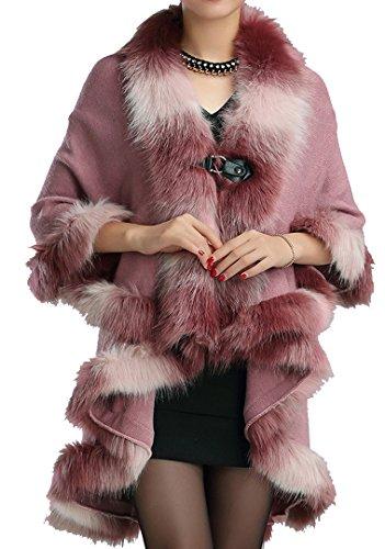 helan-womens-warm-luxury-style-faux-fur-double-layers-cloak-cape-coat-leather-pink