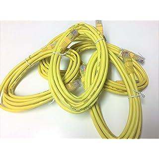 allmakes–Cat5e 2m gelb Ethernet Kabel–5PACK