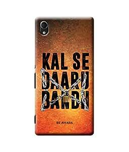 Be Awara Kal Se Daaru Bandh Designer Mobile Phone Case Back Cover For Sony M4