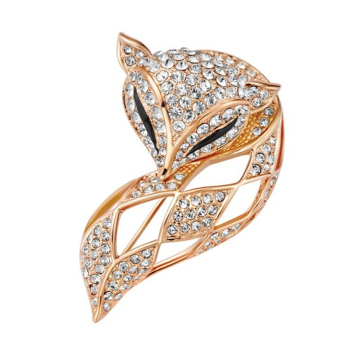 Chaomingzhen Vergoldete Nette Charm Fox Brosche für Damen Modeschmuck Broschen Tiere (Tier Broschen Modeschmuck)