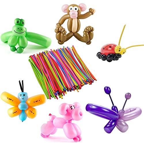 ellierung Ballons Kit, Luftballons Bunt Magic Modellierballons für Feiern Geburtstage Clowns Veranstaltungen Dekoration ()