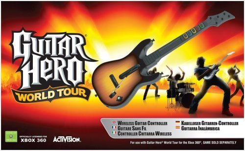 GUITAR HERO WORLD TOUR X-BOX CON GUITARRA