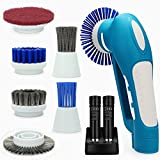 Belle Handheld Automatic Electric Power Scrubber Household Cordless Multifunctional with 2 Rechargeable Batteries
