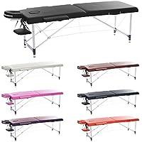 H-ROOT 2 Secciones Ultraligero Aluminio Portátil Massage Mesa Couch Cama Plinth Terapia Tatoo Salon