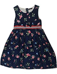 POPCORN Girls' A-Line Dress (Blue, 3-4 Years)