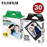 feiledi Trade Papier Photo Polaroid Fujifilm- Papier Photo Fujifilm Instax Square Film, Bord Noir/Noir pour Appareil Photo Instax SQ10 SQ6 SQ20 Instant Share