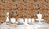 PPD Brick Wallpapers for Home, Office, Kitchen, living room etc. High Quality Stone Brick Wall Effect Pre Gummed Wallpaper (Self Adhesive) (3 TILES/5.5 SQ FEET)
