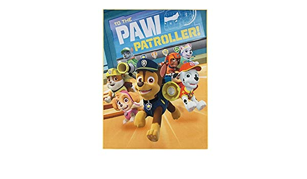 Paw Patrol Teppich 95cm x 125cm f/ür das Kinderzimmer Kinderteppich To The Paw Patroller mit den tierischen Helden von Paw Patrol