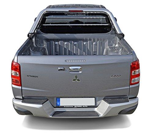 Fahrzeugspezifischer Edelstahl Überrollbügel (2006-) 76mm mit Gitter & LED Rückleuchte inkl. Teilegutachten - passend für alle Kabienentypen.