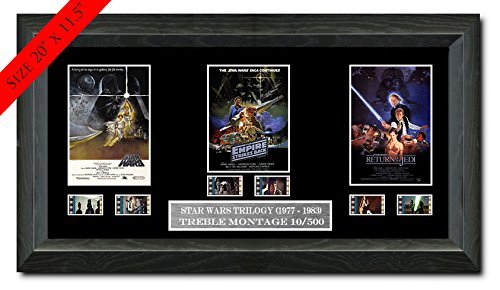 Filmcell.co.uk Star Wars Trilogy film cell (1977,1980,1983) Filmcell, holographic serial numbered