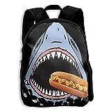 Daypack zaino per bambini con stampa bocca aperta squalo hot dog - confezione regalo