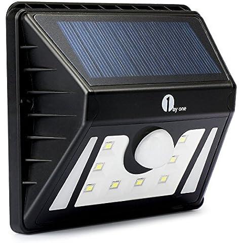 1byone Luz LED solar a prueba de agua al aire libre 3 modos diferentes con sensor de movimiento de seguridad