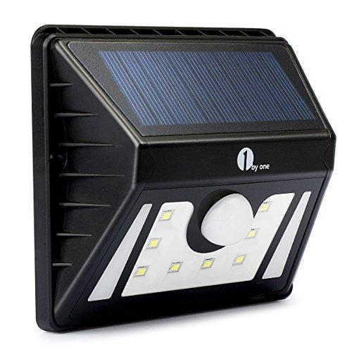 Preisvergleich Produktbild 1byone Solarleuchte 8 LED Solarlampe Sicherheits-, Bewegungs Licht Sensor mit 3 Modi für wählen