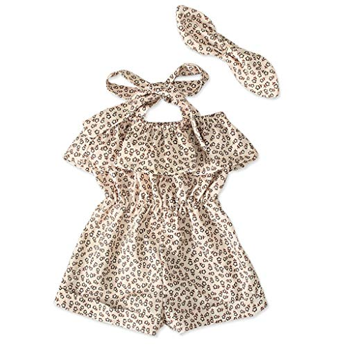 Baby Jumpsuit Toddler Straps Off Shoulder Ruffled Floral Print Romper Jumpsuit