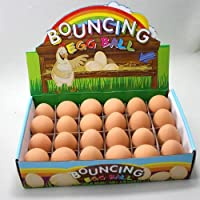 6 x Bouncy Egg Rubber Ball