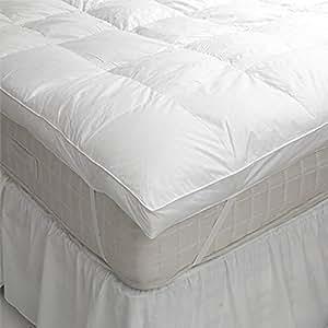 Linens Limited Surmatelas 2 personnes en plume et duvet d'oie - 150 x 200 cm