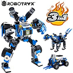 Juguete Robot Stem | Divertido Juego Creativo 3 en 1 | Juguetes de construcción para niños de 6-14 años de Edad | El Mejor Juguete de Regalo para niños | Kit de póster Gratis Incluido